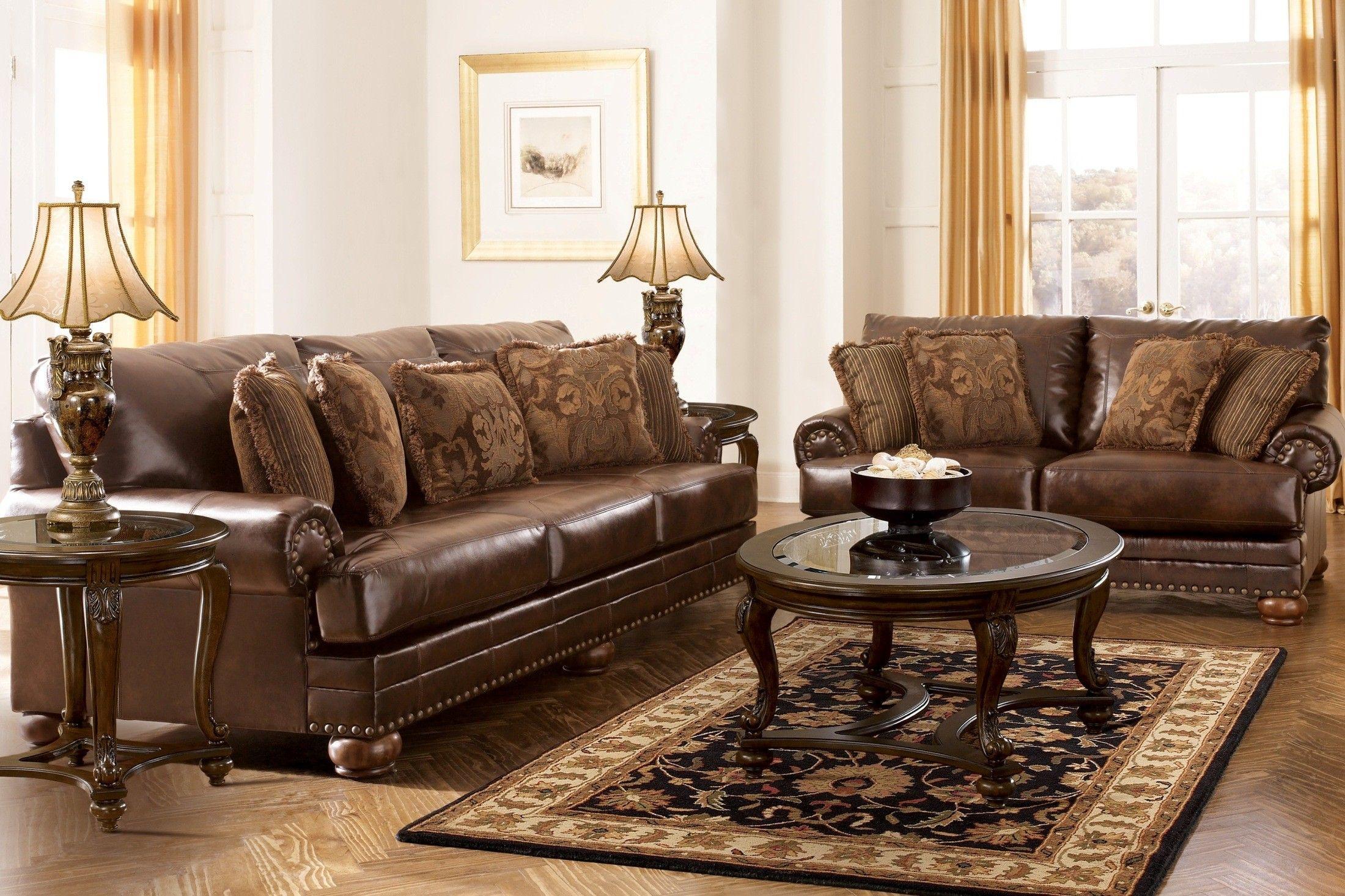 Ashley Furniture DuraBlend Antique Living Room Set - 99200 - Living Room Furniture