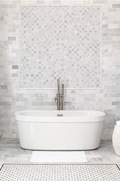 Great White Tile Bathroom Floor 400 X 400