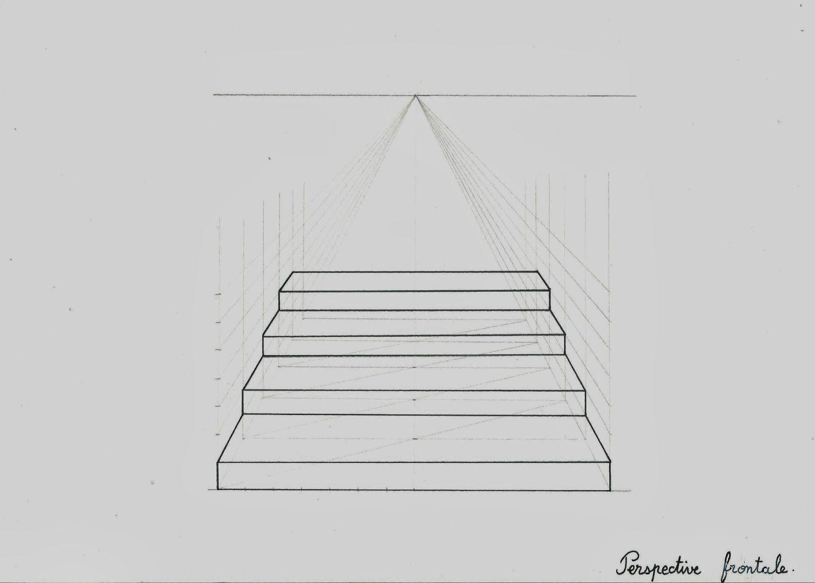 construire deux escaliers en perspective un escalier en perspective frontale un point de. Black Bedroom Furniture Sets. Home Design Ideas