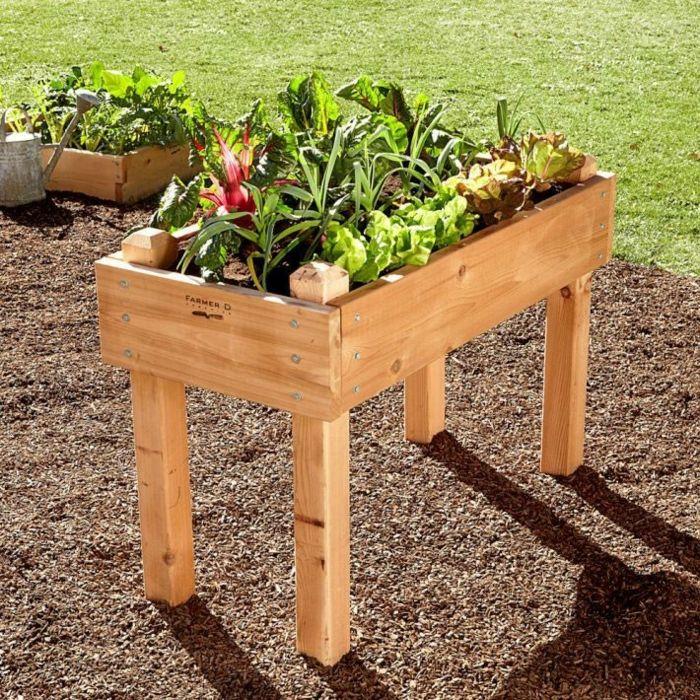 hochbeete design tischbeet holz Gartengestaltung \u2013 Garten und