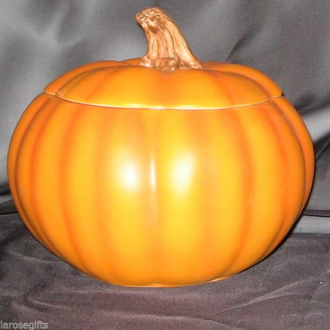 Wholesale Case Of 12 Ceramic Pumpkin Floral Container Planter
