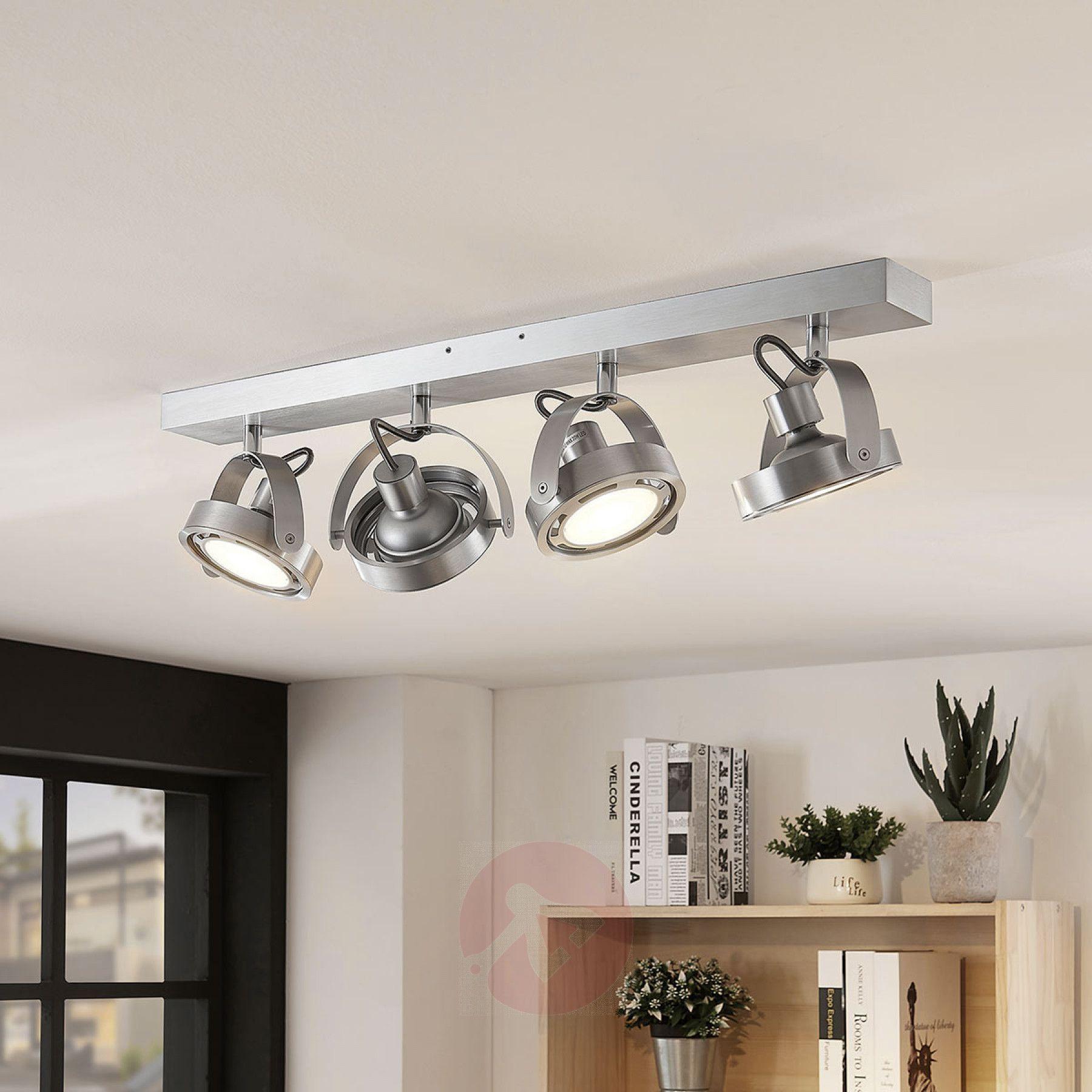 LED Strahler Munin, dimmbar, alu, 4 flammig | Lampenwelt.at