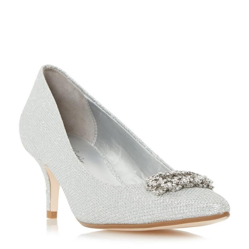 Embellished Brooch Detail Court Shoe