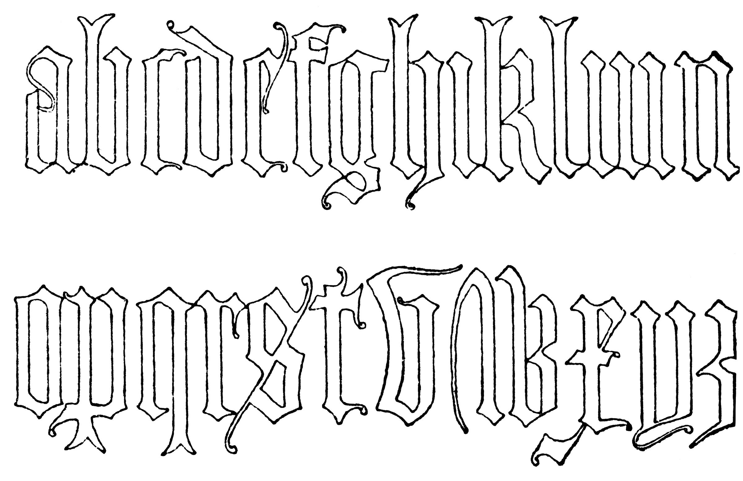 Gothic Tattoo Fonts 254 2400x1554