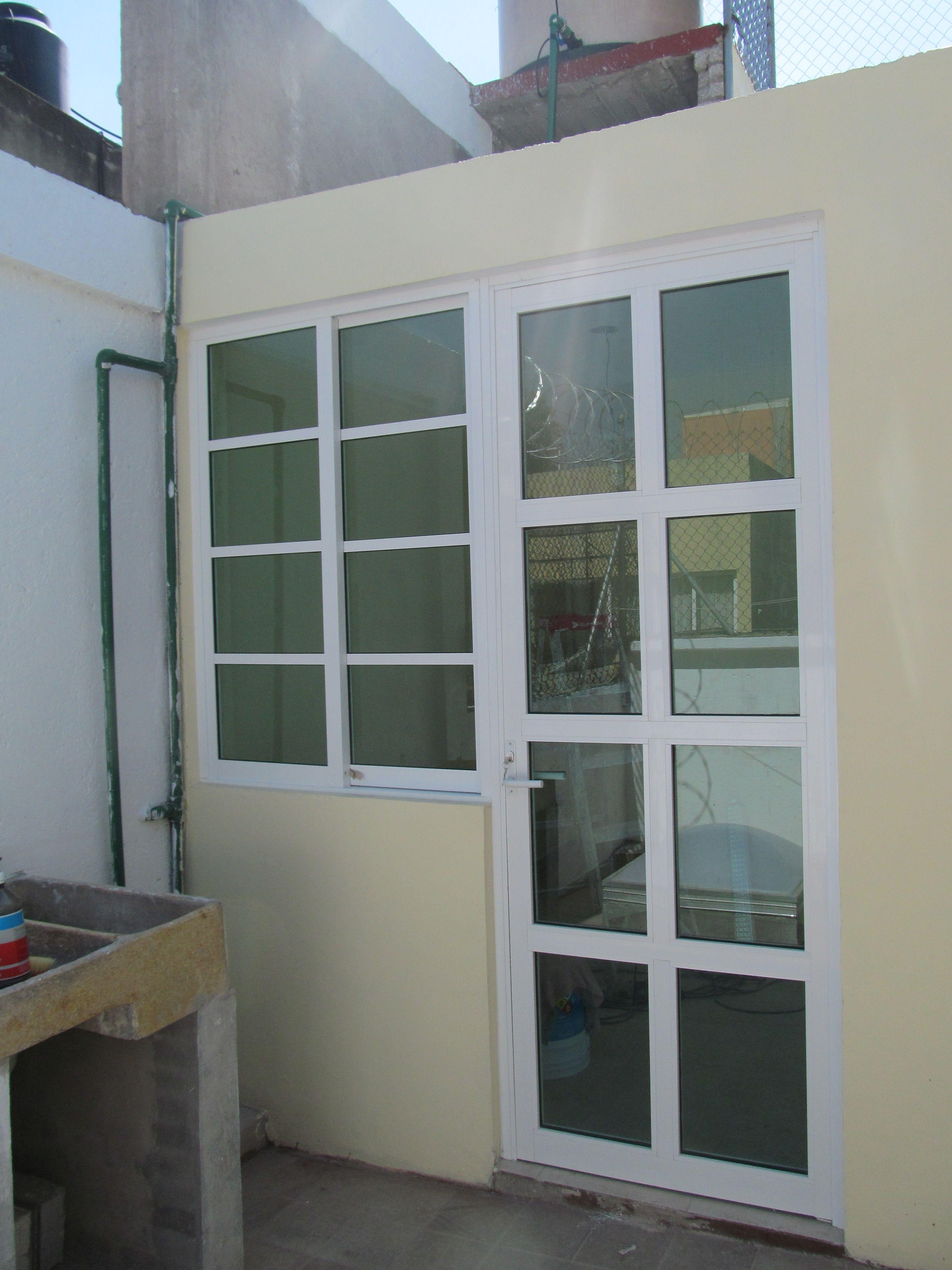 Puerta terraza aluminio elegant canceleria puerta para - Puerta terraza aluminio ...