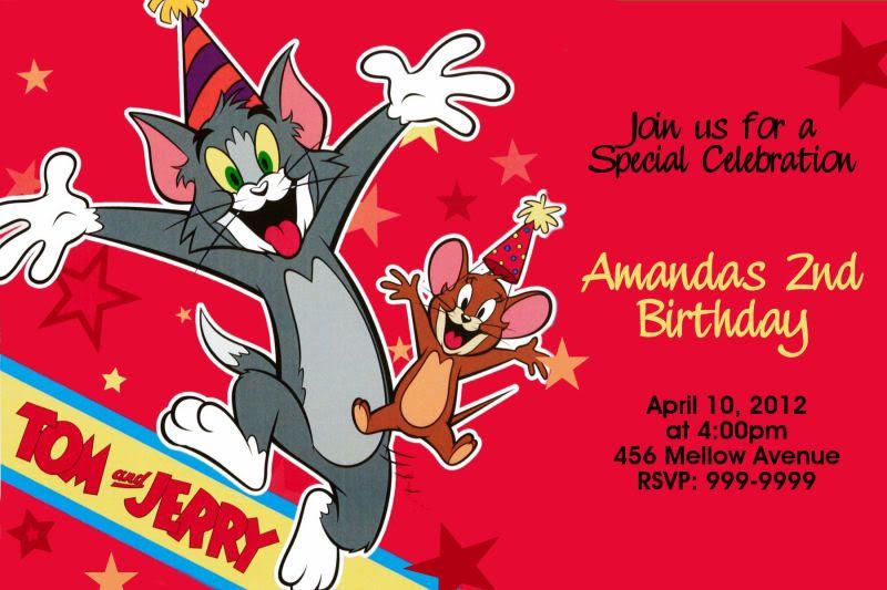 Tom And Jerry Birthday Invitations Birthdays And Party Invitations