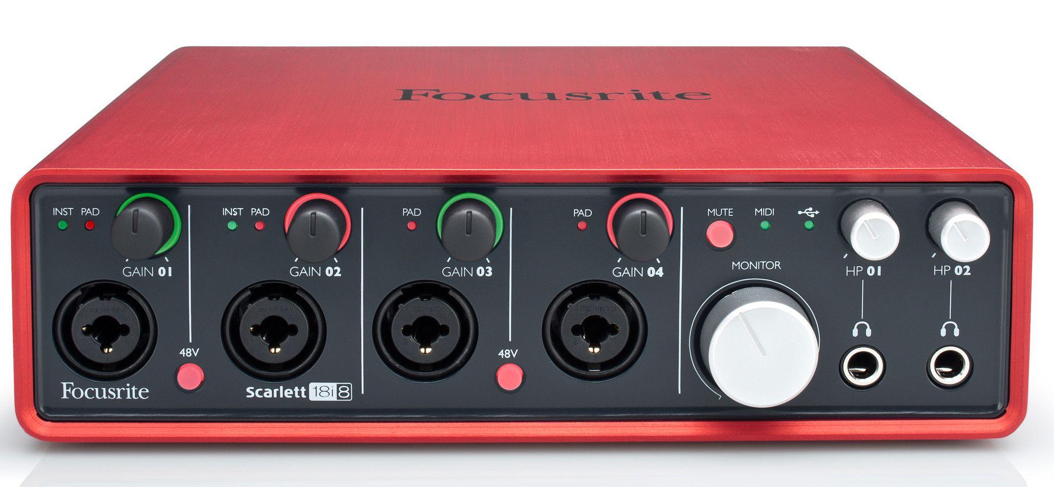 Store Demo Focusrite Scarlett 18i8 Audio Recording Interface