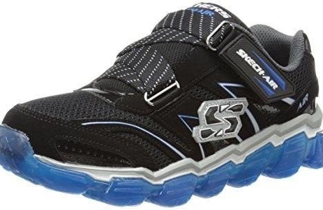Skechers Kids 95104L Boys Air Sneaker,Black/Royal,13 M US Little Kid