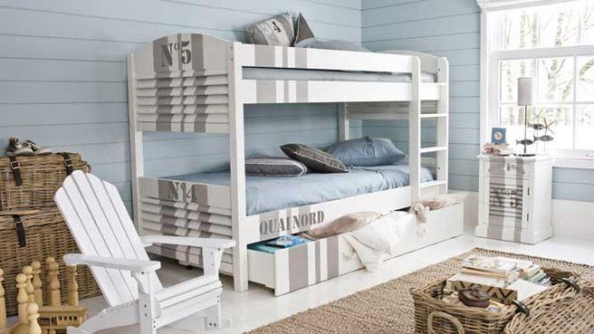 idée déco chambre adulte bord de mer | Pinterest | Bunk rooms ...