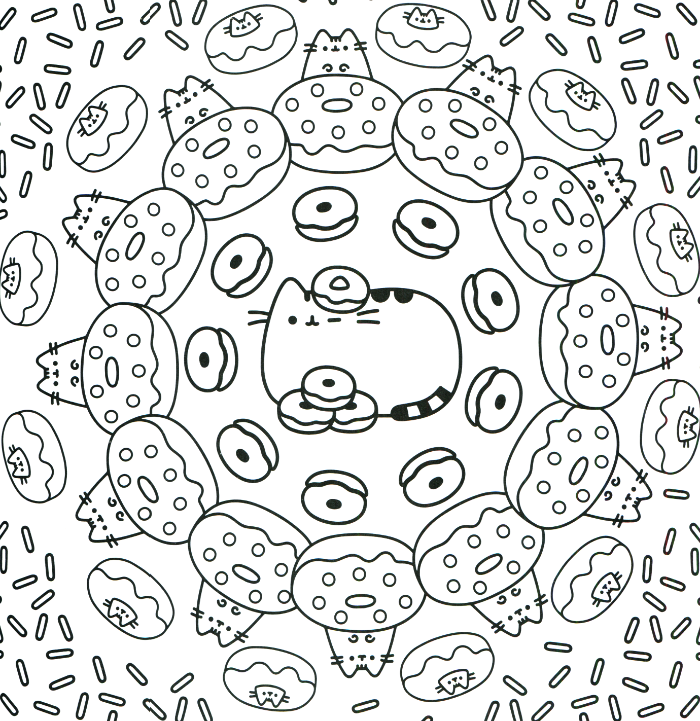 Donut Kawaii Coloring Pages Pusheen Coloring Pages Unicorn Coloring Pages Cat Coloring Page