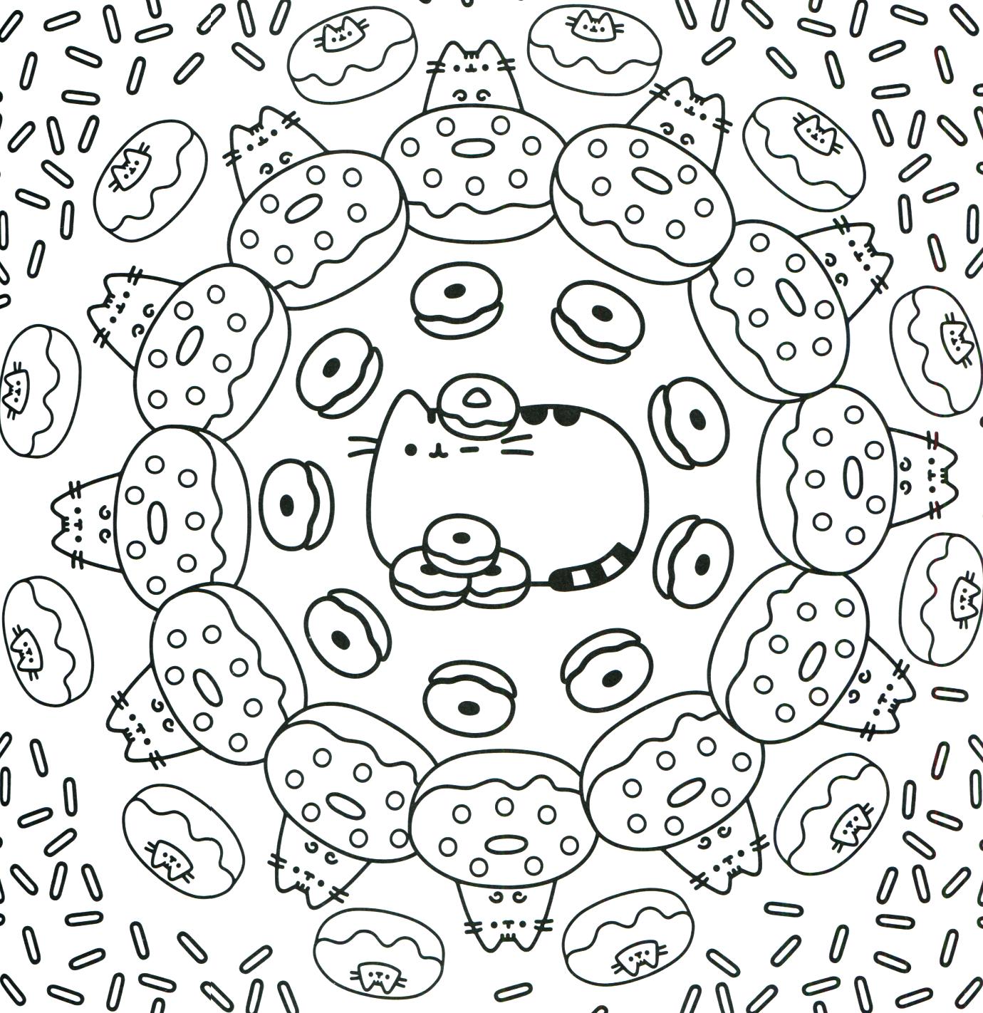 Pusheen Coloring Book Pusheen Pusheen The Cat Pusheen Coloring Pages Unicorn Coloring Pages Donut Coloring Page