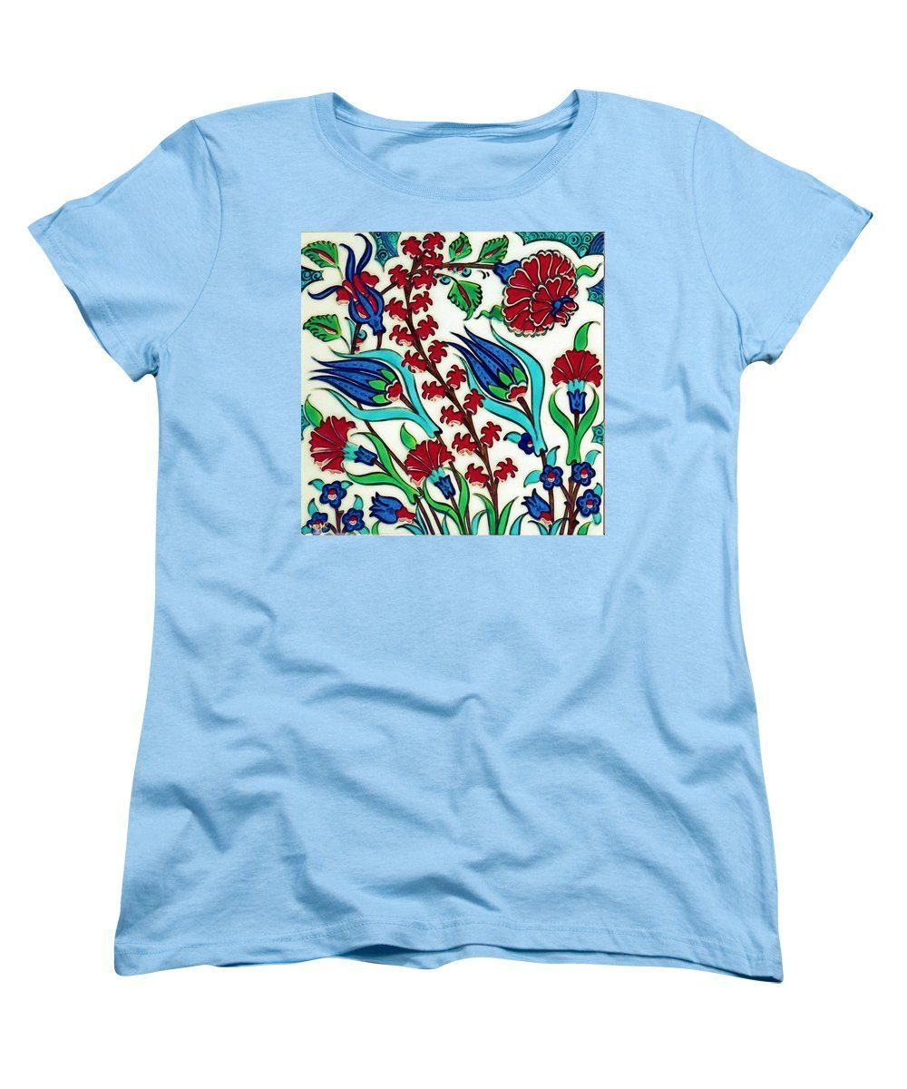 An Ottoman Iznik Style Floral Design Pottery Polychrome, By Adam Asar, No 44 A - Women's T-Shirt (Standard Fit)