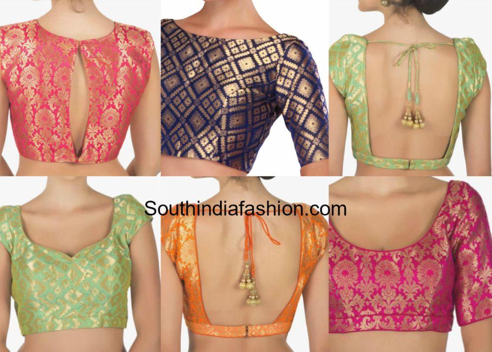 b393bcae Readymade Brocade Blouse Designs - Shop Online! | blouse | Brocade ...