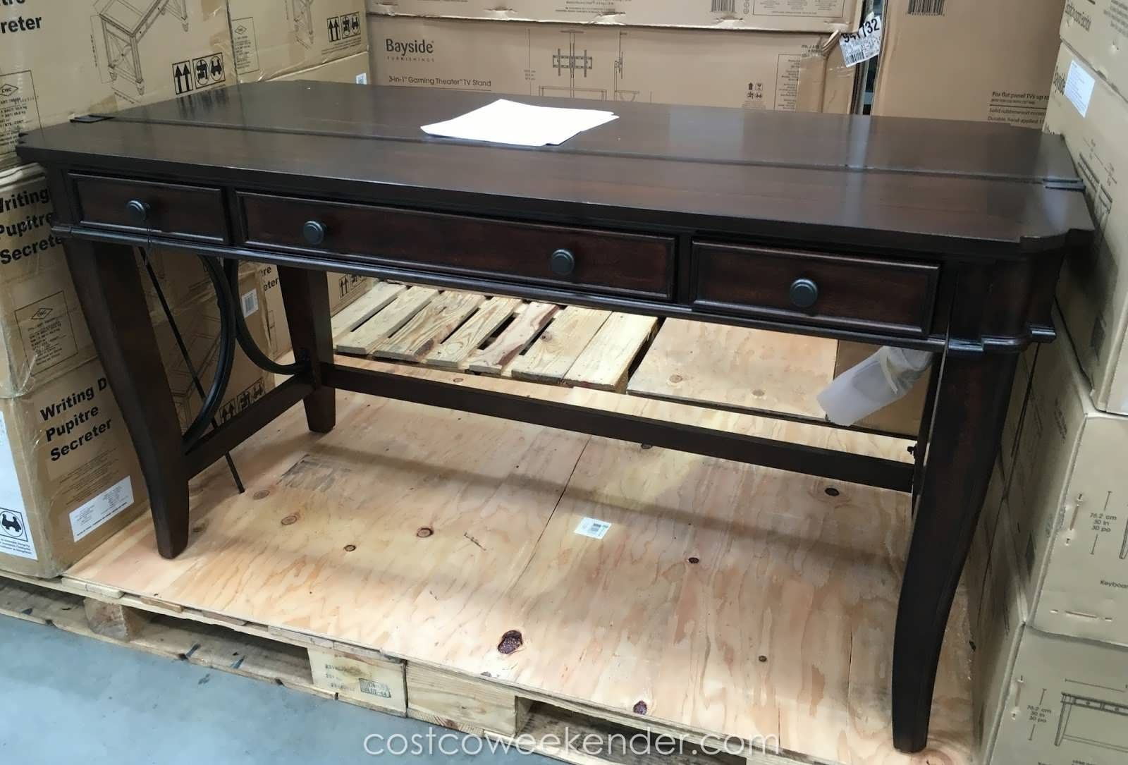 desk costco clearance furniture writing universal cheyenne cheydeskb