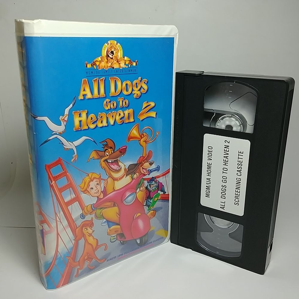Rare All Dogs Go To Heaven 2 Full Length Screening Copy Vhs Tape
