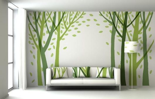 Green Wall Decor Ideas For Living Room Home Interiors Room