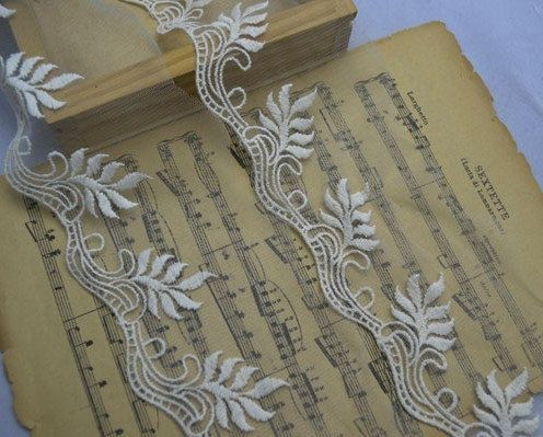 "Ivory Lace Trim Soft Embroidery Lace Trim 8cm(3.15"")"