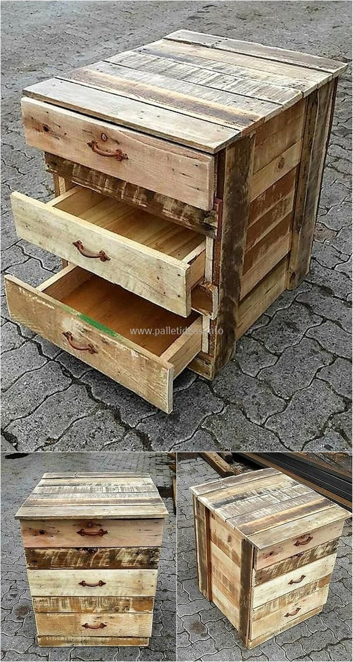 Arredo Giardino In Pallet pallet-side-table-plan #palletfurniturebeds | cassettiera