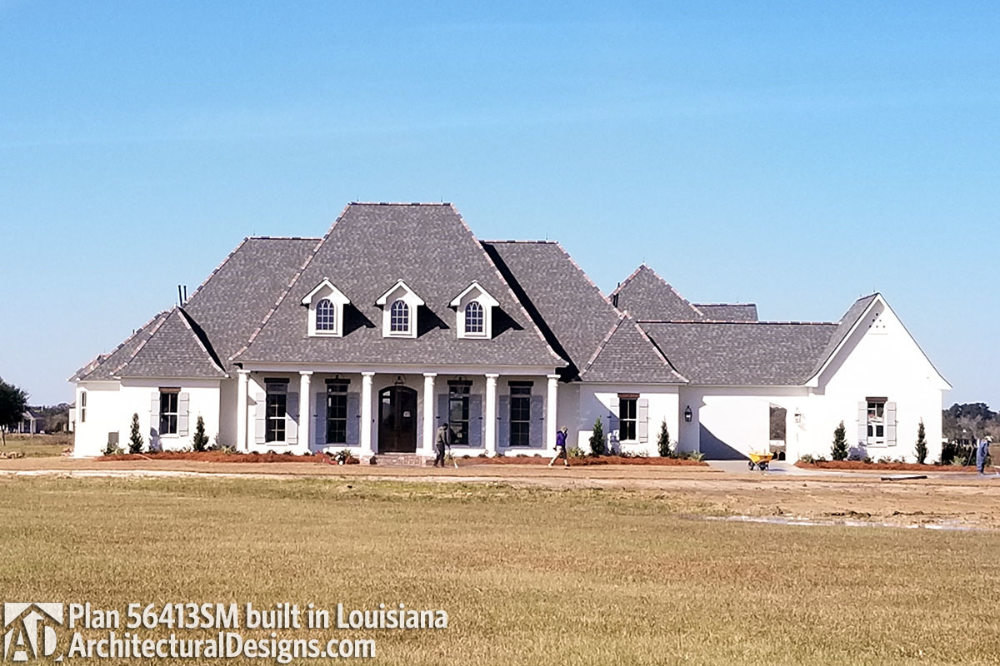 Plan 56413sm Luxury Southern Home Plan With Boat Garage And Many Extras In 2021 Southern House Plans Southern Ranch Style Homes Acadian Style Homes