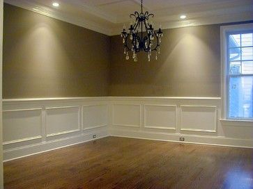 Formal Dining Room Chair Rail Shadow Box Wainscoting