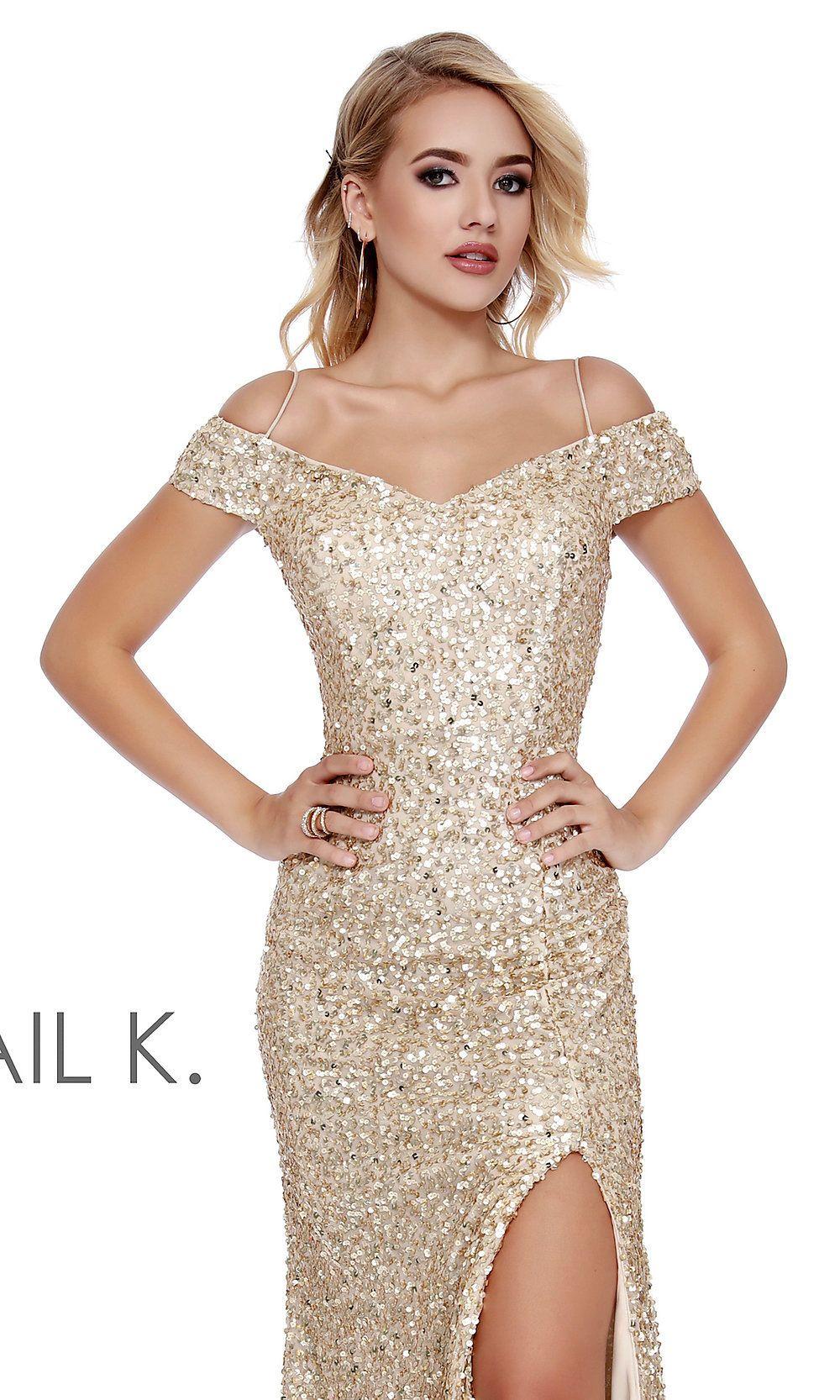 Long Sequin Off The Shoulder Designer Prom Dress Dresses Prom Designs Sparkly Prom Dresses [ 1666 x 1000 Pixel ]