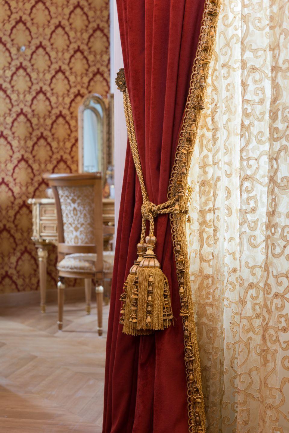 rideaux rouge et or rideaux rouge