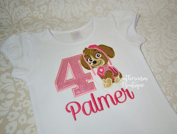 Puppy Birthday Shirt Skye Girls Paw Patrol Girl