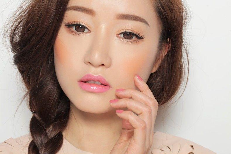 Korean beauty trends, orange blush!