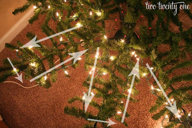 How To Put Lights On A Christmas Tree Two Twenty One Christmas Lights Christmas Tree Lighting Christmas Decorations
