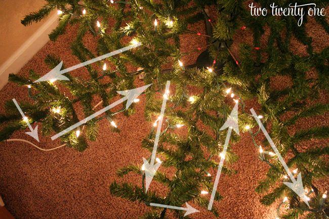 How to Put Lights on a Christmas Tree 15 diy Pinterest