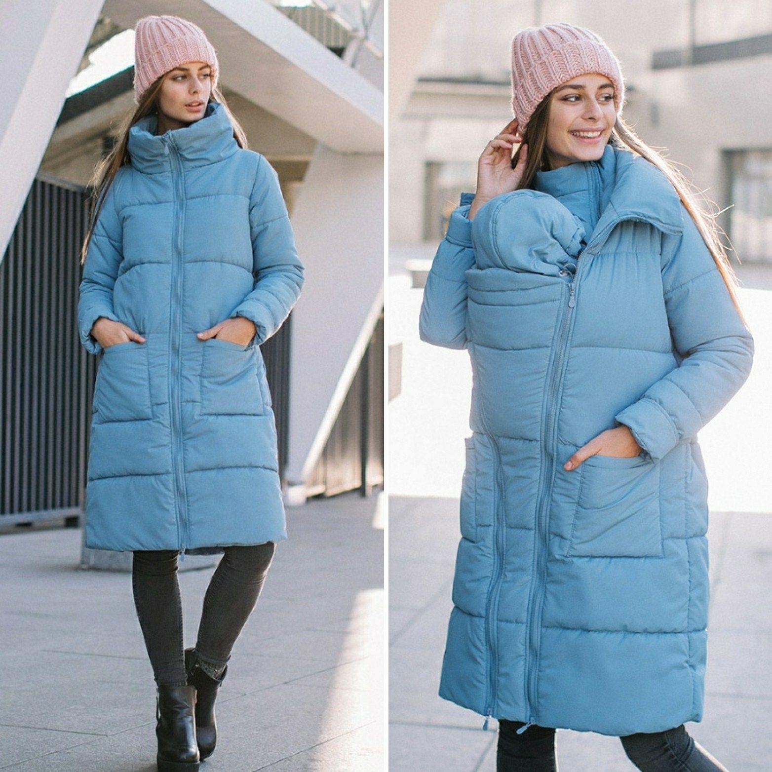 Mom Warm coat baby carrier Winter Babywearing jacket Baby wearing winter coat 4-in-1 Maternity down coat Winter maternity coat Belly to baby