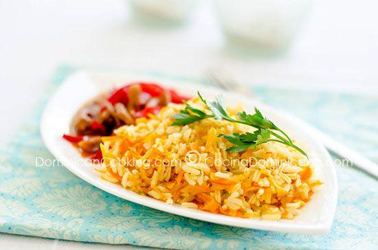 Receta Arroz Amarillo con Zanahoria y Cebolla