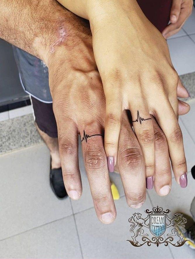 Soulmate Wedding Ring Tattoos : soulmate, wedding, tattoos, Jackie💁🏻♀️👑, Matching, Tattoos,, Finger, Tattoos