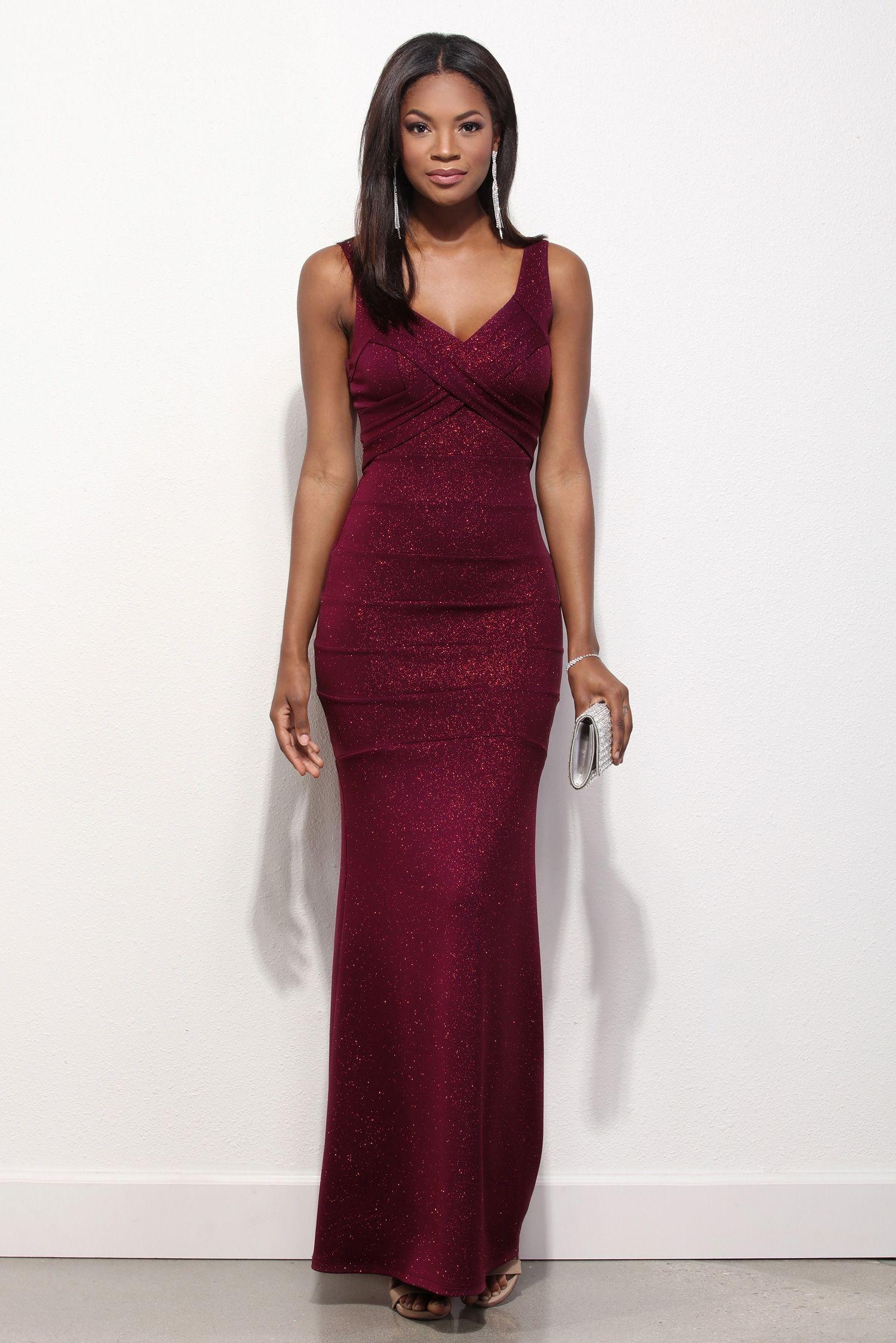 Lorena Burgundy Glitter Prom Dress | Glitter prom dresses, Prom ...