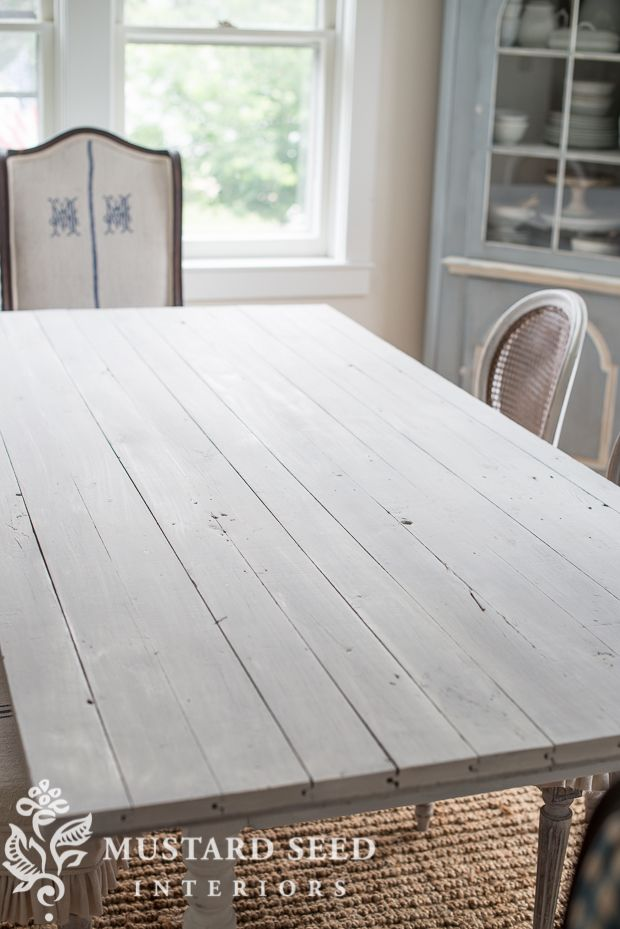 Miss Mustard Seed  Farmhouse White Table   Mms Milk Paint Beauteous Miss Mustard Seed Dining Room Inspiration
