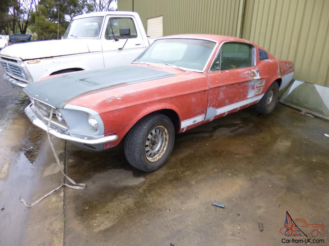1967 Mustang Fastback S Code 390 Big Block Four Speed Project Car Mustang Fastback Mustang 1967 Mustang