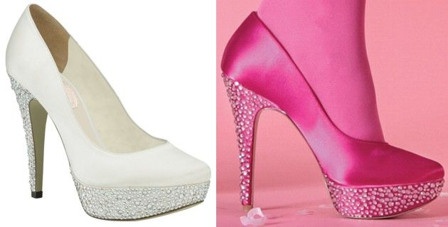 Bedazzle Shoes Bedazzled Wedding By Pink