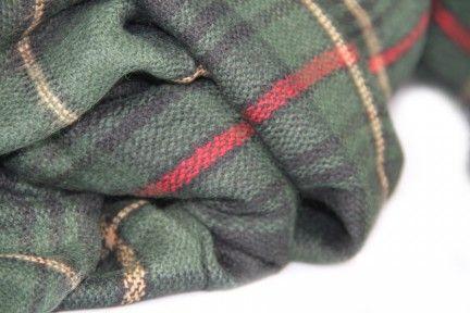 Écharpe plaid #tartan écossais en laine vert