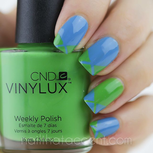 cnd vinylux paradise collection - laser tape french mani | Nails ...