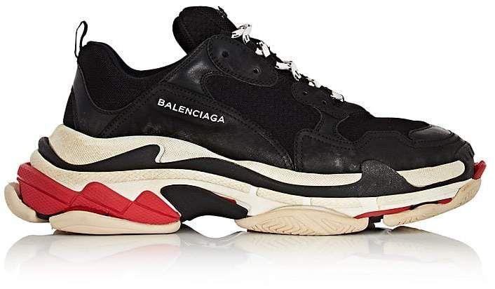 25dd7cfe09e Balenciaga Men s Triple S Platform Sneakers - Black