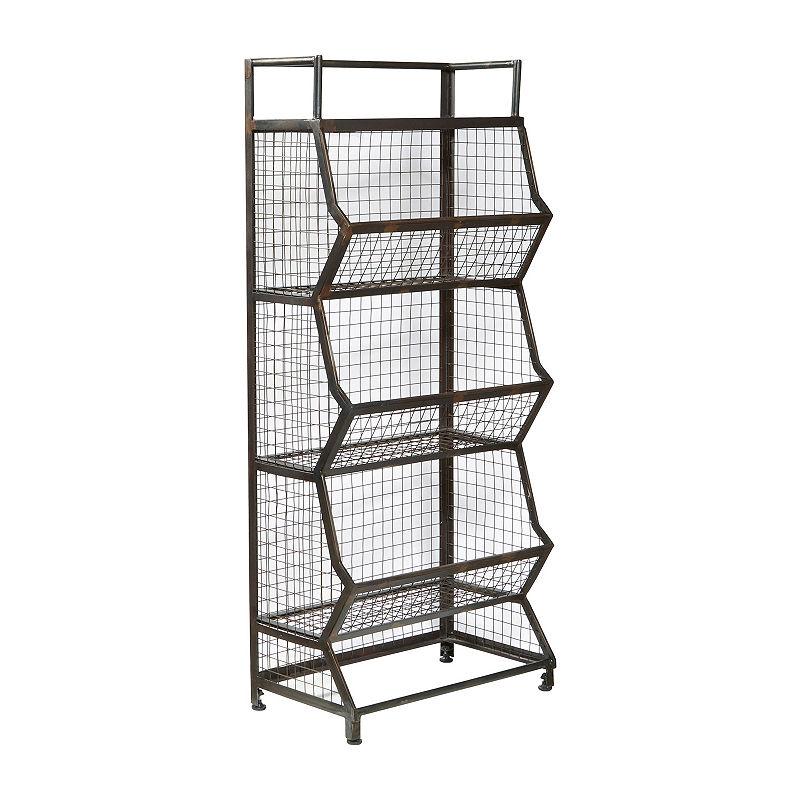 Clendon Metal Bin Etagere Storage Bins Bookcase Storage