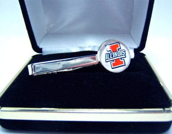 Tie Clip Bar University of Illinois In Jewelry by CynthiaCoolBeans, $19.95