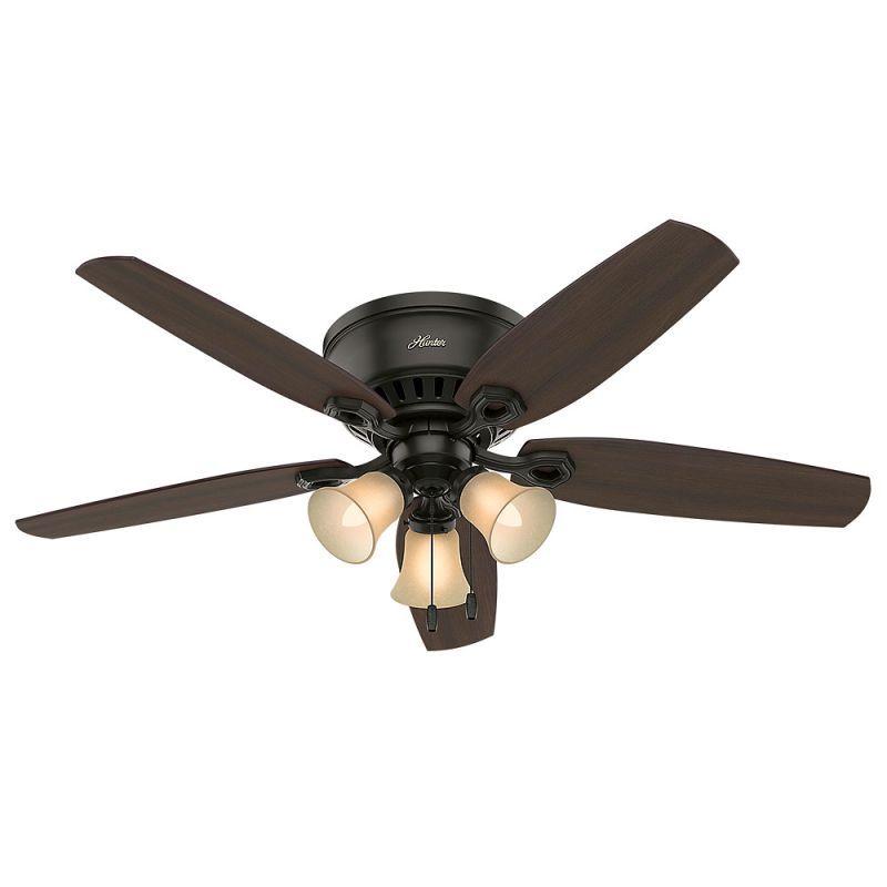 Hunter Builder 52 Low Profile Bronze Ceiling Fan Ceiling Fan With Light Ceiling Fan