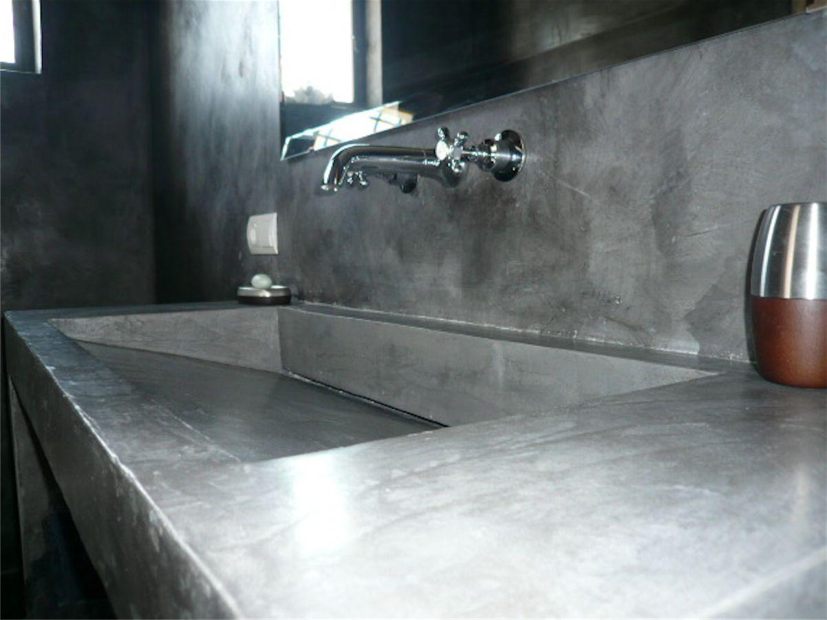 lavabi bagno in cemento resina - Cerca con Google   Baños ...