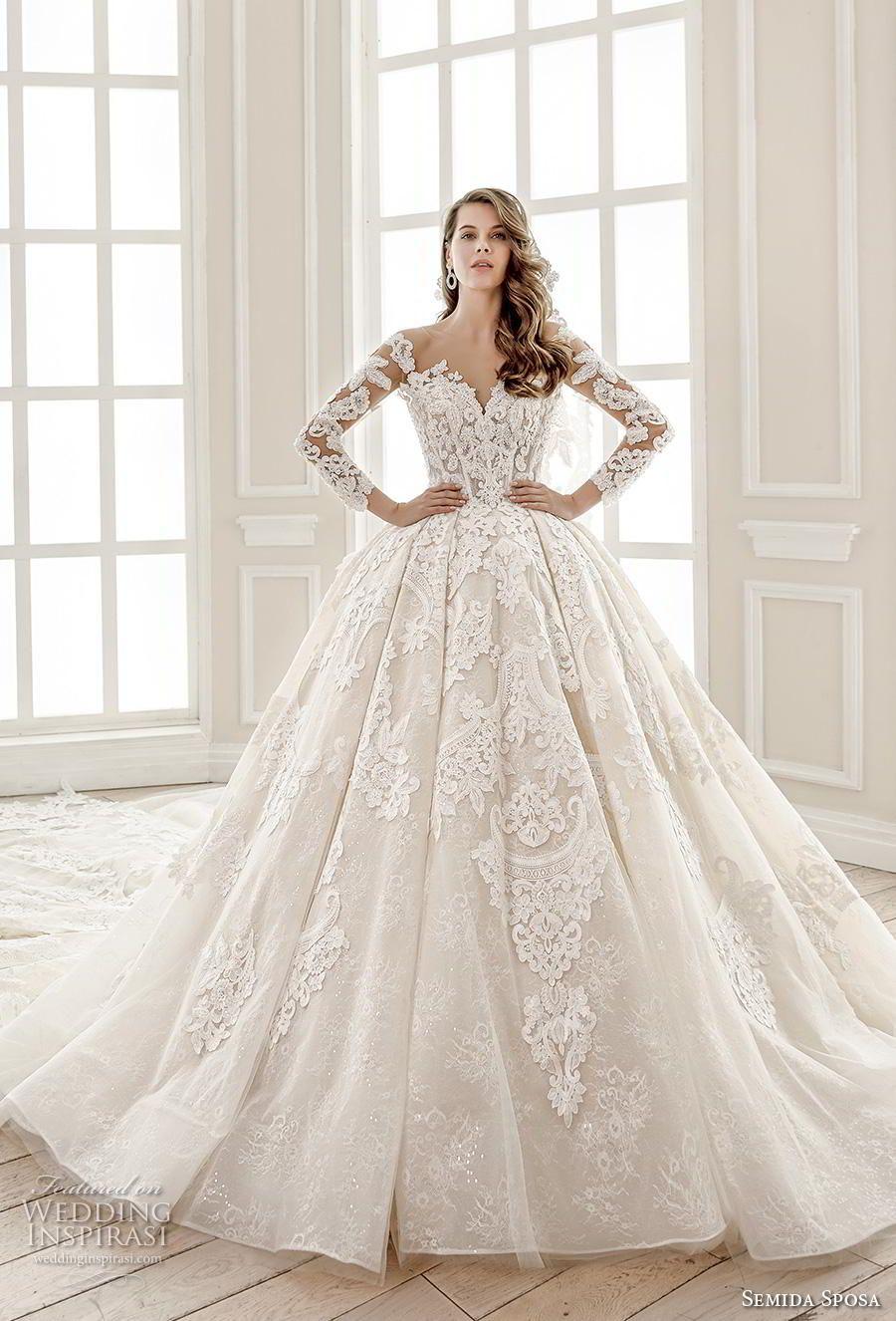 Semida Sposa 2020 Wedding Dresses Amazon Bridal Collection Sheer Wedding Dress Bridal Dresses Wedding Dresses Amazon