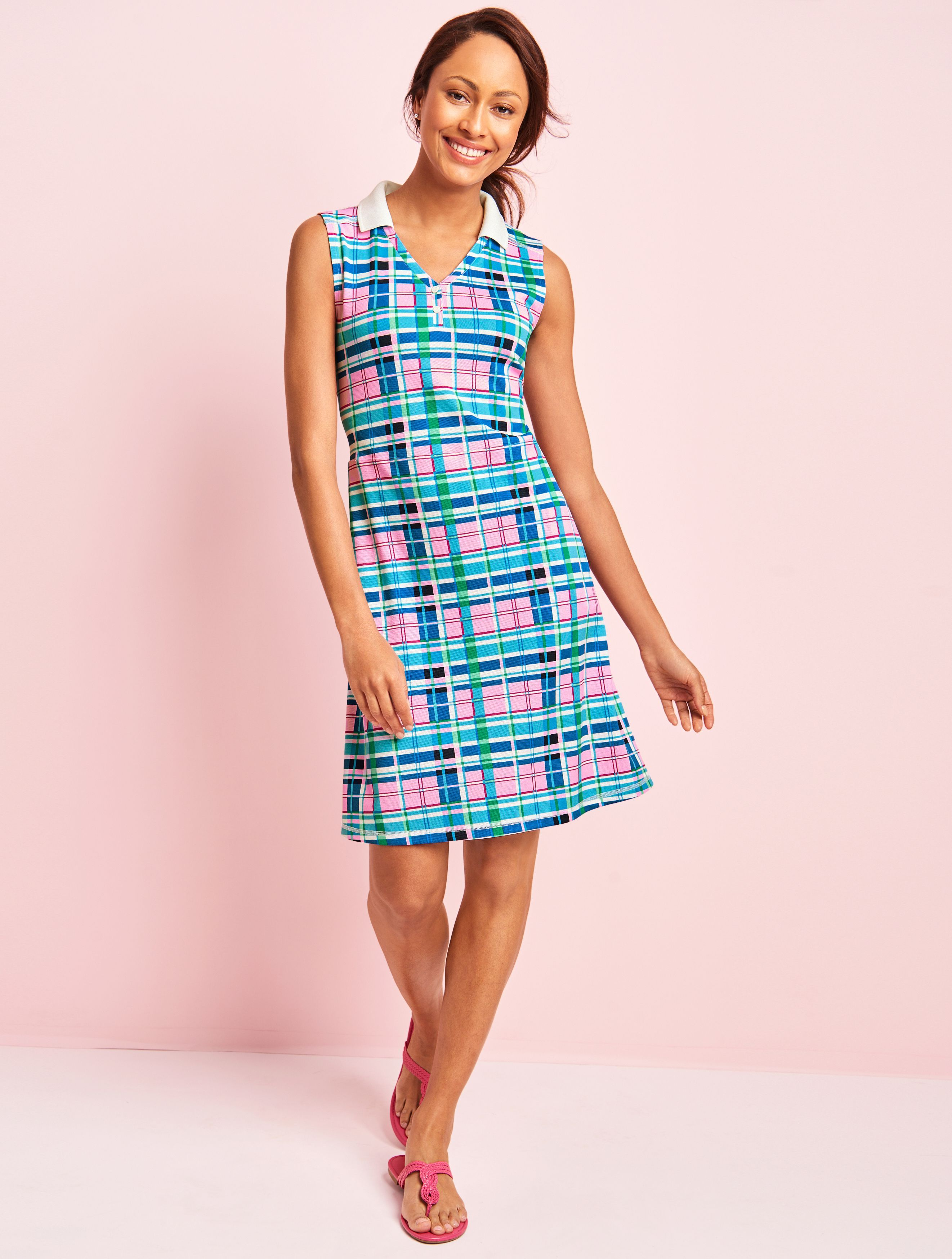 ae65fb20e18 Sporty meets preppy in our plaid polo dress. With a comfortable fit and  feminine swing