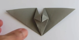 Thomas Hull Flapping Bat Origami Instructions Com And Youtube WatchvNxeeS98DHII Watchv
