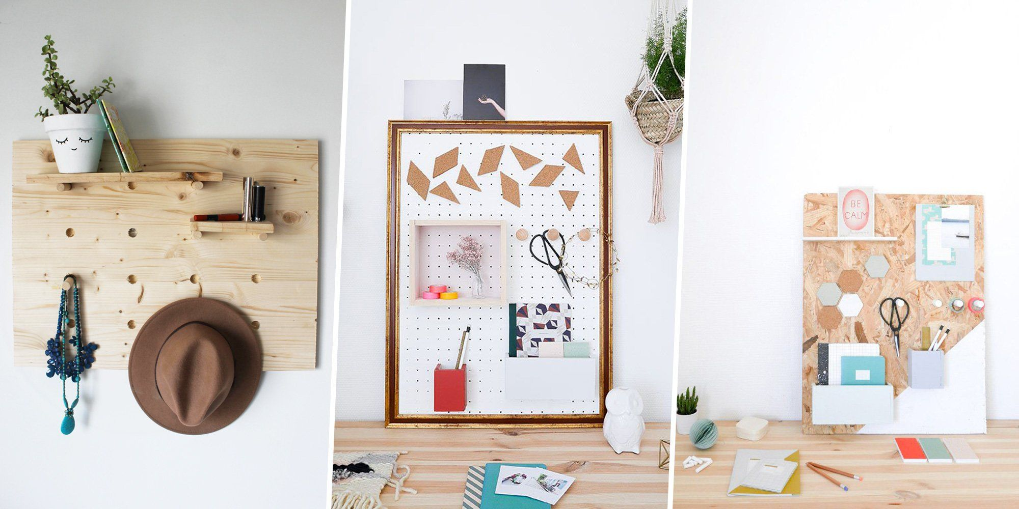 toutes nos id es pour fabriquer un organiseur mural. Black Bedroom Furniture Sets. Home Design Ideas