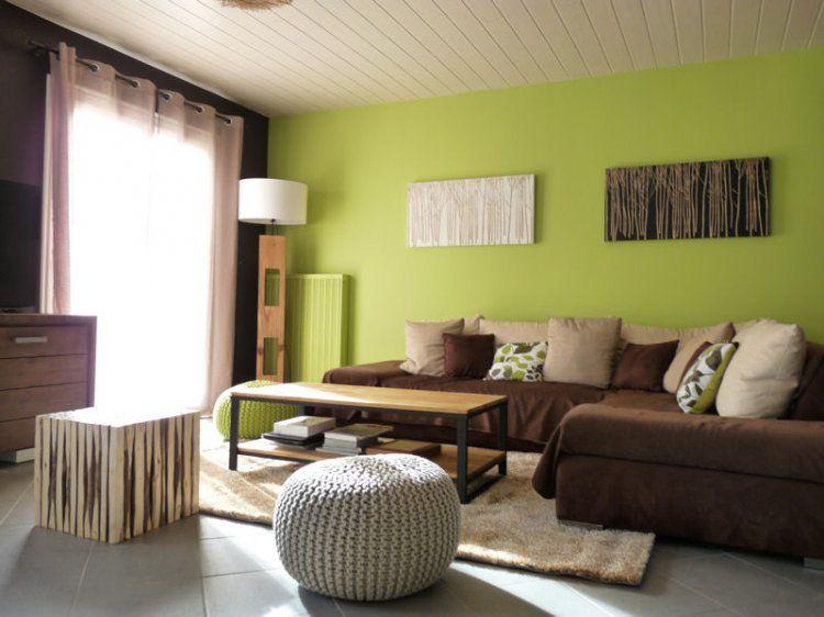 Nouvelle vie pour une pièce à vivre in 2019 | Idées salon | Mur vert ...