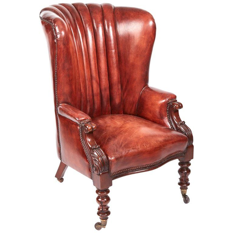 Quality William Iv Leather Barrel Back Library Chair From A Unique Collection Of Antique And Library Chair Leather Chairs Bedroom Oversized Chair Living Room